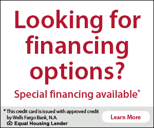 12 months special financing available - learn more